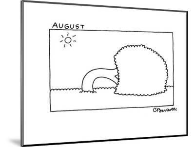 August - New Yorker Cartoon-Charles Barsotti-Mounted Premium Giclee Print