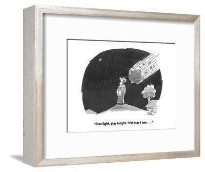 """Star light, star bright, first star I see . . . "" - Cartoon-Bob Zahn-Framed Premium Giclee Print"