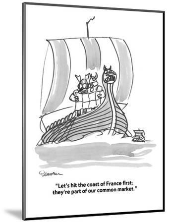 """""""Let's hit the coast of France first;  they're part of our common market."""" - Cartoon-Boris Drucker-Mounted Premium Giclee Print"""
