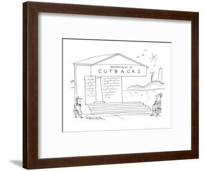 Depart of Cutbacks - Cartoon-Harley L. Schwadron-Framed Premium Giclee Print