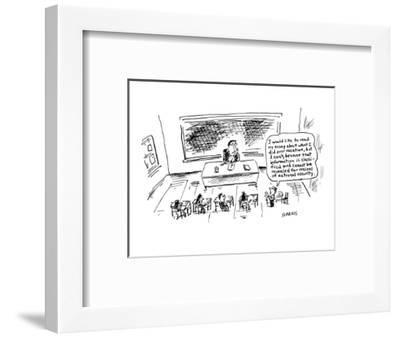 I would like to read my essay about what I did over vacation, but I can't,? - Cartoon-David Sipress-Framed Premium Giclee Print
