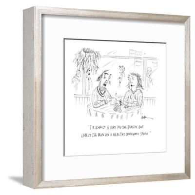 """""""I'm usually a very positive person but lately I've been on a healthy down?"""" - Cartoon-Mary Lawton-Framed Premium Giclee Print"""