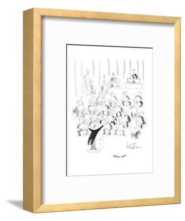 """Who, me?"" - New Yorker Cartoon-Arnie Levin-Framed Premium Giclee Print"