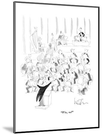 """Who, me?"" - New Yorker Cartoon-Arnie Levin-Mounted Premium Giclee Print"