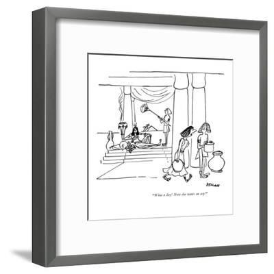 """""""What a day! Now she wants an asp!"""" - New Yorker Cartoon-Frank Modell-Framed Premium Giclee Print"""