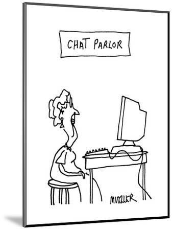Chat Parlor - Cartoon-Peter Mueller-Mounted Premium Giclee Print