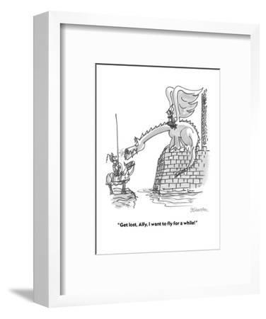 """""""Get lost, Alfy, I want to fly for a while!"""" - Cartoon-Boris Drucker-Framed Premium Giclee Print"""