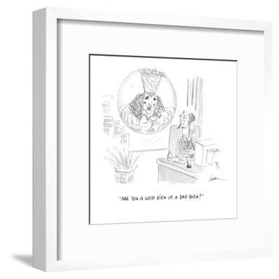 """""""Are you a good bitch or a bad bitch?"""" - Cartoon-Mary Lawton-Framed Premium Giclee Print"""