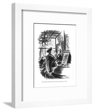 """""""I'm confused. Tell me again. Which countries have dictators we like?"""" - New Yorker Cartoon-Whitney Darrow, Jr.-Framed Premium Giclee Print"""