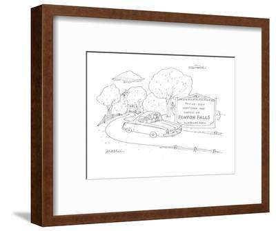 You've Just Scratched the Surface of Fenton Falls Please Come Again. - Cartoon-Michael Maslin-Framed Premium Giclee Print
