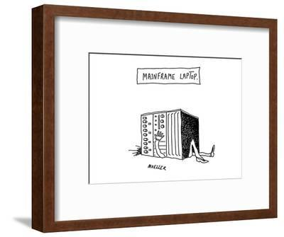 Mainframe Laptop - Cartoon-Peter Mueller-Framed Premium Giclee Print