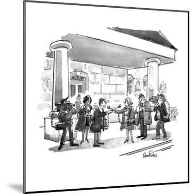 Two news teams interviewing eachother. - New Yorker Cartoon-Dana Fradon-Mounted Premium Giclee Print