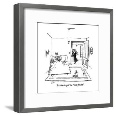 """""""It's time to split the Hosta funkia!"""" - New Yorker Cartoon-George Booth-Framed Premium Giclee Print"""