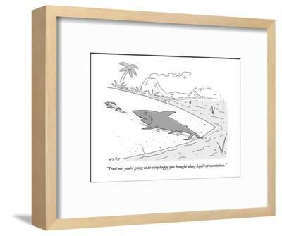 """Trust me, you're going to be very happy you brought along legal represent?"" - New Yorker Cartoon-Kim Warp-Framed Premium Giclee Print"