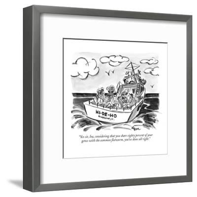 """""""Yes sir, Ira, considering that you share eighty percent of your genes wit?"""" - New Yorker Cartoon-Lee Lorenz-Framed Premium Giclee Print"""