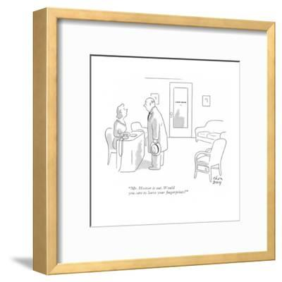 """""""Mr. Hoover is out. Would you care to leave your fingerprints?"""" - New Yorker Cartoon-Chon Day-Framed Premium Giclee Print"""