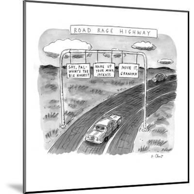 'Road Rage Highway' - New Yorker Cartoon-Roz Chast-Mounted Premium Giclee Print