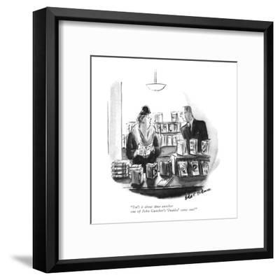 """Isn't it about time another one of John Gunther's 'Insides' came out?"" - New Yorker Cartoon-Helen E. Hokinson-Framed Premium Giclee Print"