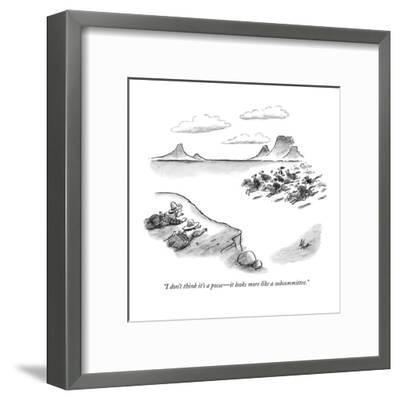 """""""I don't think it's a posse?it looks more like a subcommittee."""" - New Yorker Cartoon-Frank Cotham-Framed Premium Giclee Print"""