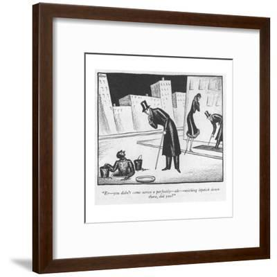 """Er?you didn't come across a perfectly?ah?ravishing lipstick down there, d?-Peter Arno-Framed Premium Giclee Print"