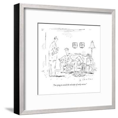 """""""I'm tying to avoid the missteps of early success."""" - New Yorker Cartoon-Barbara Smaller-Framed Premium Giclee Print"""