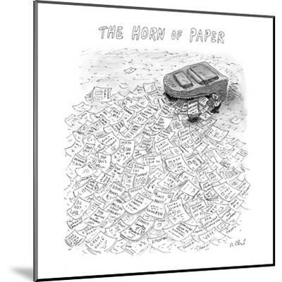 The Horn of Paper - New Yorker Cartoon-Roz Chast-Mounted Premium Giclee Print