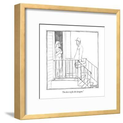 """I'm here to fix the lasagna."" - New Yorker Cartoon-Matthew Diffee-Framed Premium Giclee Print"