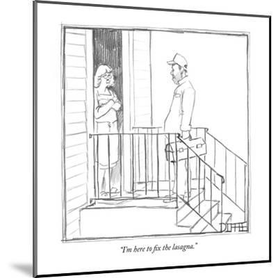 """I'm here to fix the lasagna."" - New Yorker Cartoon-Matthew Diffee-Mounted Premium Giclee Print"