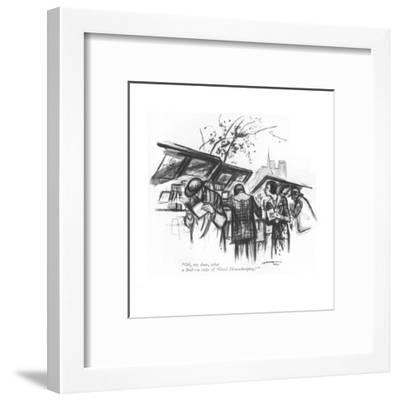 """Oh, my dear, what a find?a copy of 'Good Housekeeping.' "" - New Yorker Cartoon-Leonard Dove-Framed Premium Giclee Print"