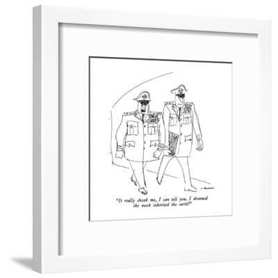 """""""It really shook me, I can tell you.  I dreamed the meek inherited the earth."""" - New Yorker Cartoon-Al Ross-Framed Premium Giclee Print"""