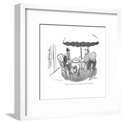 """We're going to just gypsy through France."" - New Yorker Cartoon-Helen E. Hokinson-Framed Premium Giclee Print"
