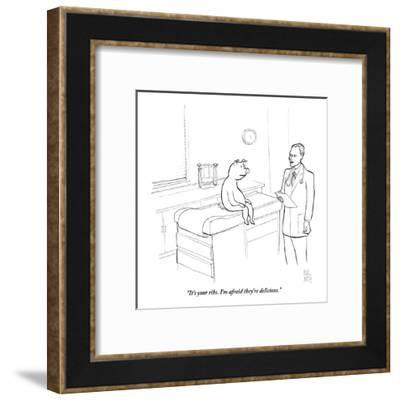 """It's your ribs. I'm afraid they're delicious."" - New Yorker Cartoon-Paul Noth-Framed Premium Giclee Print"