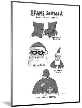 Fake Santas - New Yorker Cartoon-Michael Crawford-Mounted Premium Giclee Print