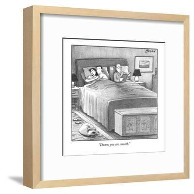 """""""Damn, you are smooth."""" - New Yorker Cartoon-Harry Bliss-Framed Premium Giclee Print"""
