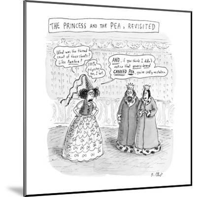 """""""Princess and the Pea Revisited"""" - New Yorker Cartoon-Roz Chast-Mounted Premium Giclee Print"""