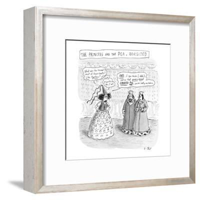 """""""Princess and the Pea Revisited"""" - New Yorker Cartoon-Roz Chast-Framed Premium Giclee Print"""