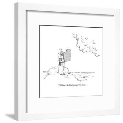 """Hold on?I think you got my toast."" - New Yorker Cartoon-Danny Shanahan-Framed Premium Giclee Print"