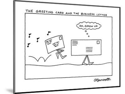The Greeting Card and the Business Letter - New Yorker Cartoon-Charles Barsotti-Mounted Premium Giclee Print