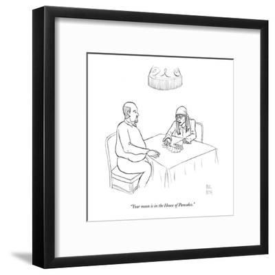 """""""Your moon is in the House of Pancakes."""" - New Yorker Cartoon-Paul Noth-Framed Premium Giclee Print"""