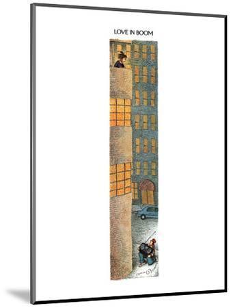 Love in Boom - New Yorker Cartoon-John O'brien-Mounted Premium Giclee Print