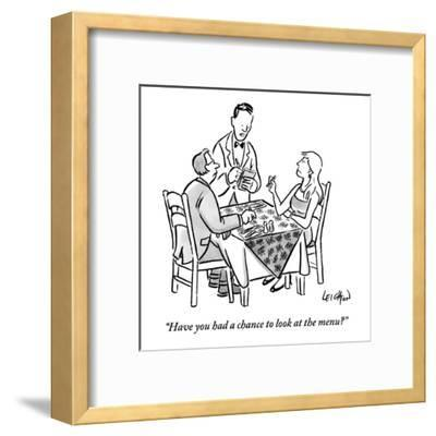 """Have you had a chance to look at the menu?"" - New Yorker Cartoon-Robert Leighton-Framed Premium Giclee Print"