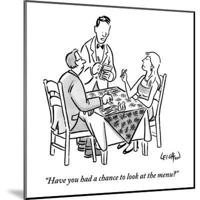 """Have you had a chance to look at the menu?"" - New Yorker Cartoon-Robert Leighton-Mounted Premium Giclee Print"