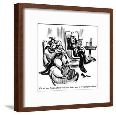 """""""I'm not sure I can help you—all your issues seem to be copyright-related."""" - New Yorker Cartoon-Lee Lorenz-Framed Premium Giclee Print"""