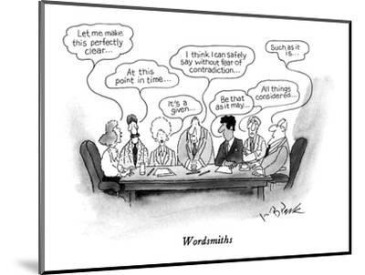 Wordsmiths - New Yorker Cartoon-W.B. Park-Mounted Premium Giclee Print