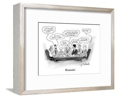 Wordsmiths - New Yorker Cartoon-W.B. Park-Framed Premium Giclee Print