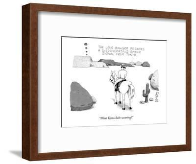 """What Kemo Sabe wearing?"" - New Yorker Cartoon-J.C. Duffy-Framed Premium Giclee Print"