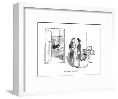 """He's wooing the press."" - New Yorker Cartoon-Stan Hunt-Framed Premium Giclee Print"
