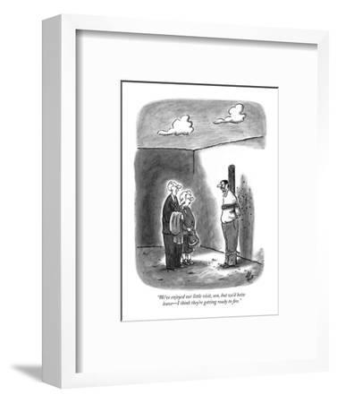 """""""We've enjoyed our little visit, son, but we'd better leave?I think they'r?-Frank Cotham-Framed Premium Giclee Print"""