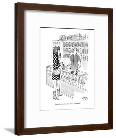 """""""Do you have a phone that doesn't do too much?"""" - New Yorker Cartoon-Marisa Acocella Marchetto-Framed Premium Giclee Print"""