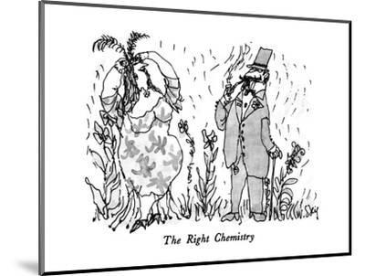 The Right Chemistry - New Yorker Cartoon-William Steig-Mounted Premium Giclee Print